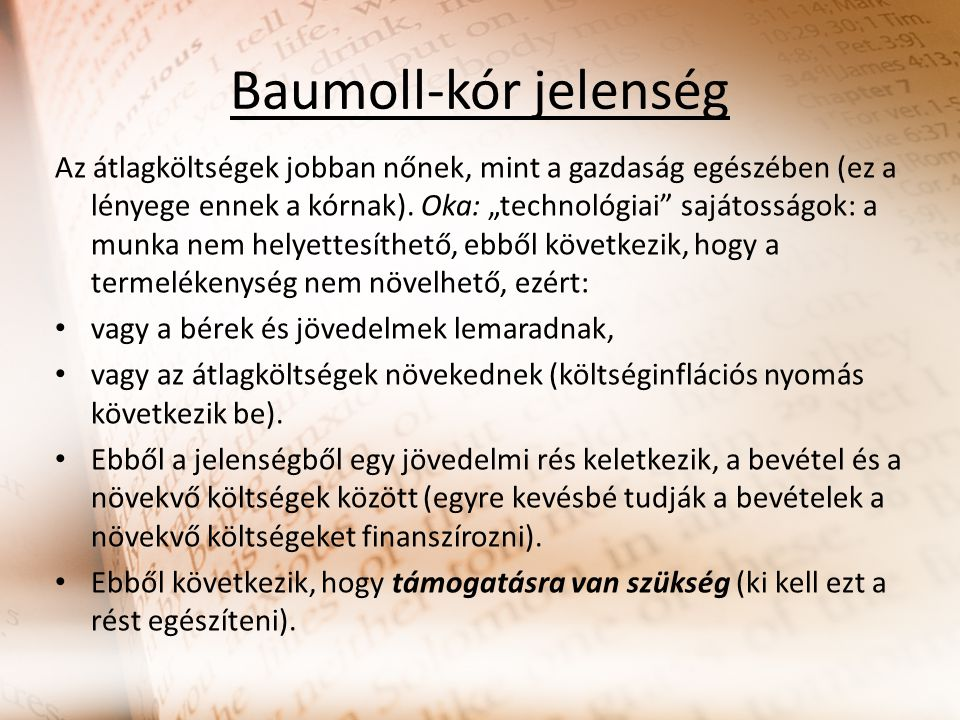 Baumoll-kór jelenség