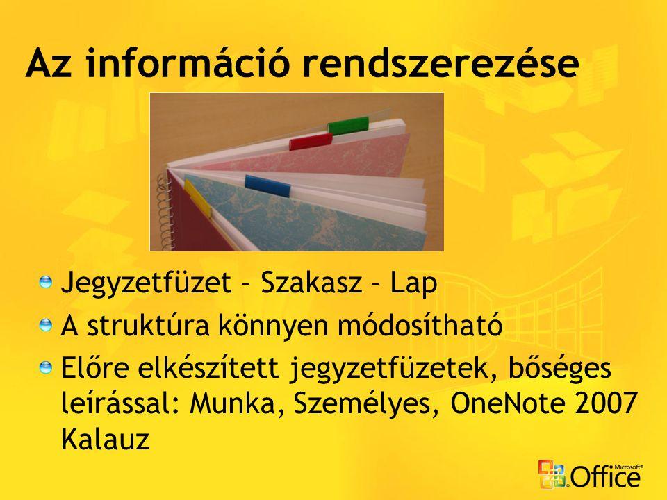 Az információ rendszerezése