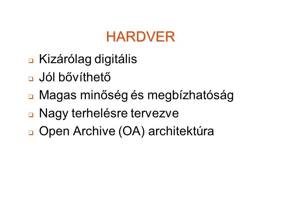HARDVER Kizárólag digitális Jól bővíthető