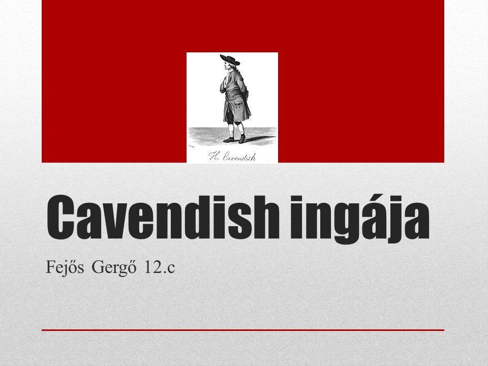 Cavendish ingája Fejős Gergő 12.c
