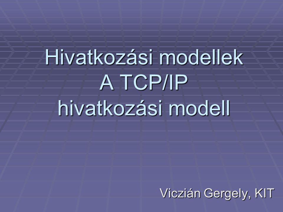 Hivatkozási modellek A TCP/IP hivatkozási modell