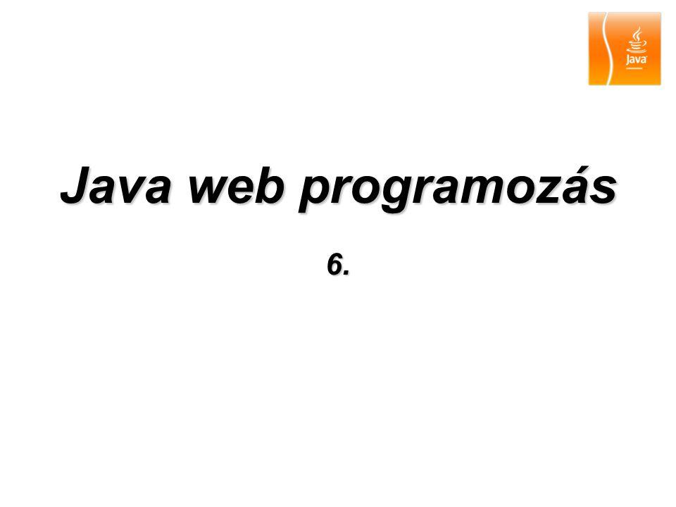 Java web programozás 6.