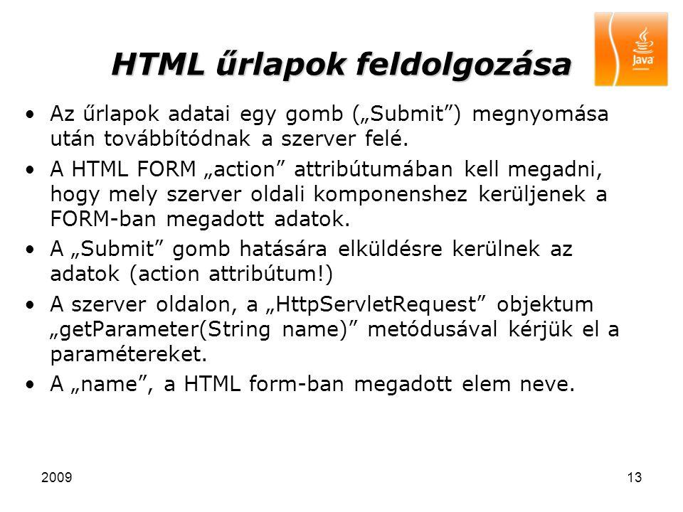 HTML űrlapok feldolgozása