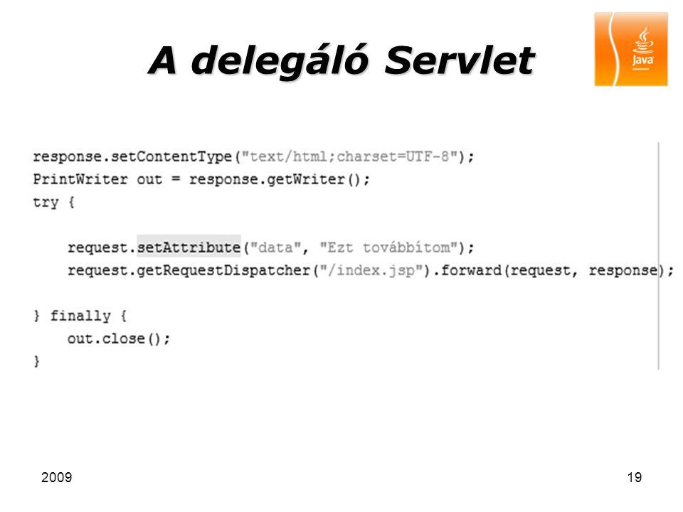 A delegáló Servlet 2009