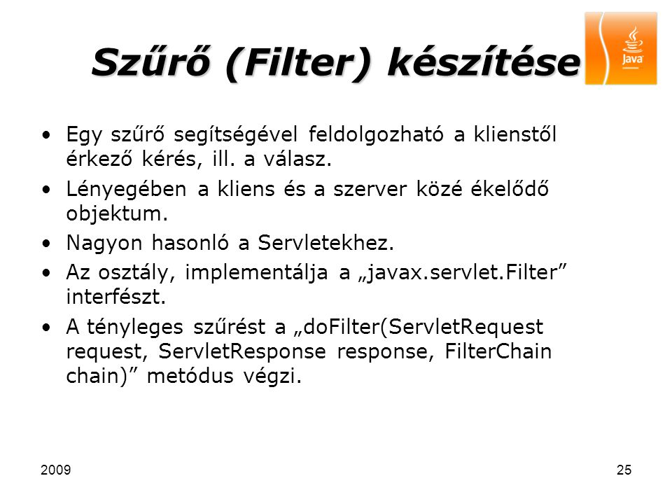 Szűrő (Filter) készítése