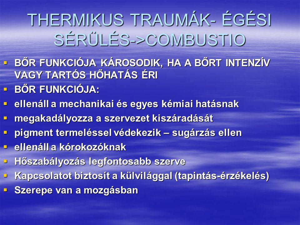 THERMIKUS TRAUMÁK- ÉGÉSI SÉRÜLÉS->COMBUSTIO
