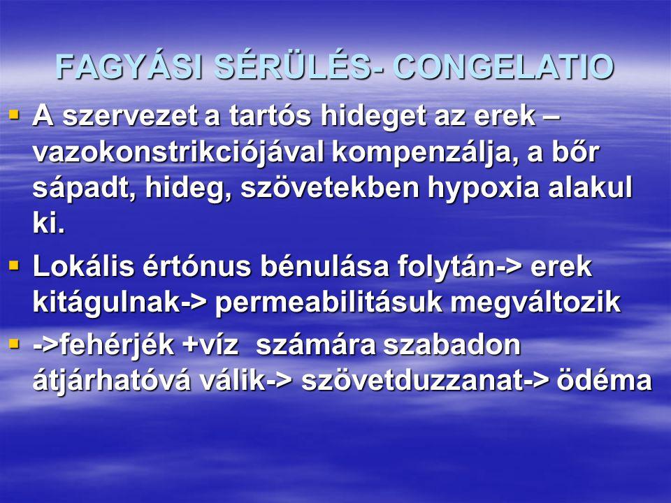 FAGYÁSI SÉRÜLÉS- CONGELATIO