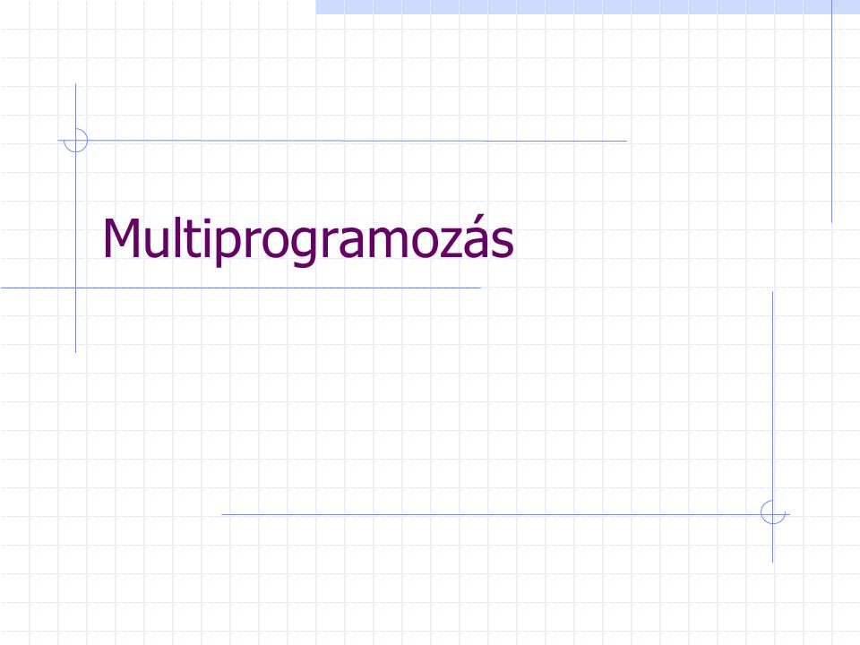 Multiprogramozás