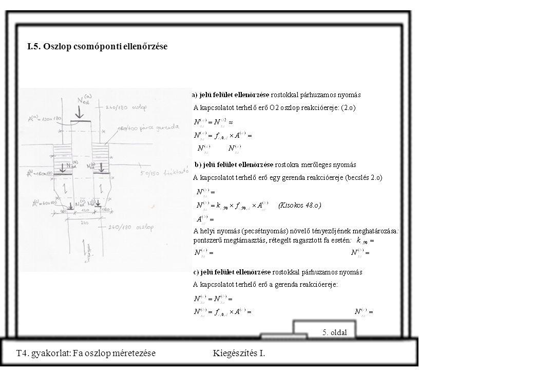 I.5. Oszlop csomóponti ellenőrzése