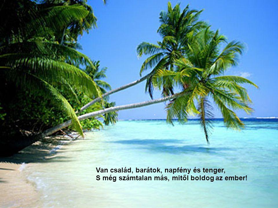 Van család, barátok, napfény és tenger, S még számtalan más, mitől boldog az ember!