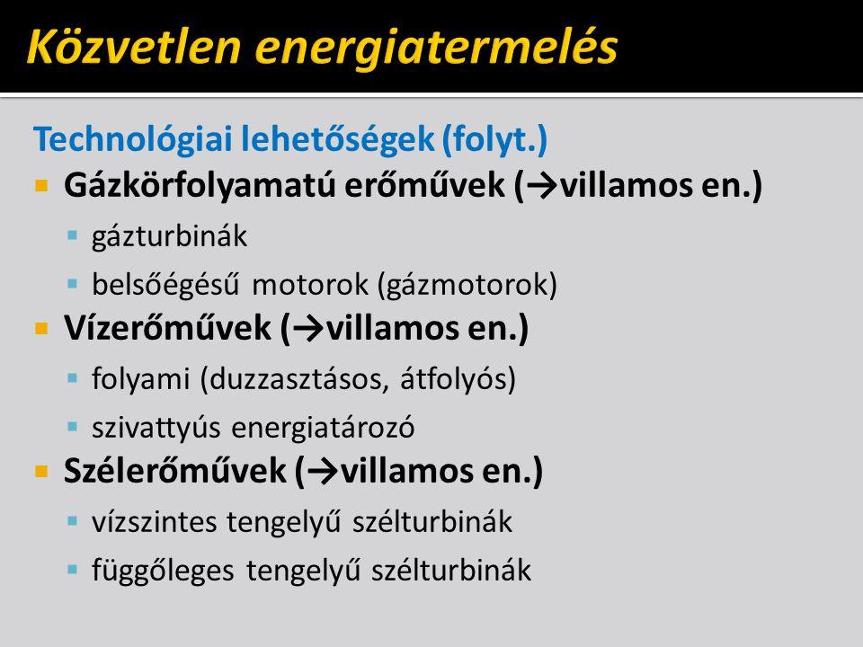 Közvetlen energiatermelés