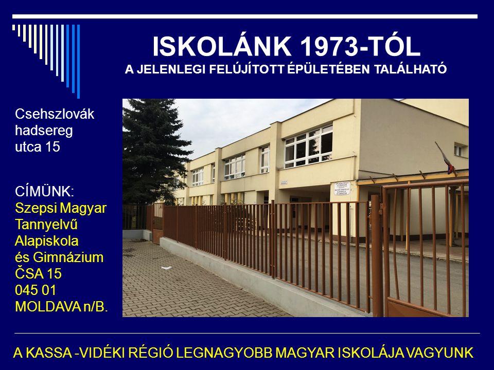 ISKOLÁNK 1973-TÓL A JELENLEGI FELÚJÍTOTT ÉPÜLETÉBEN TALÁLHATÓ