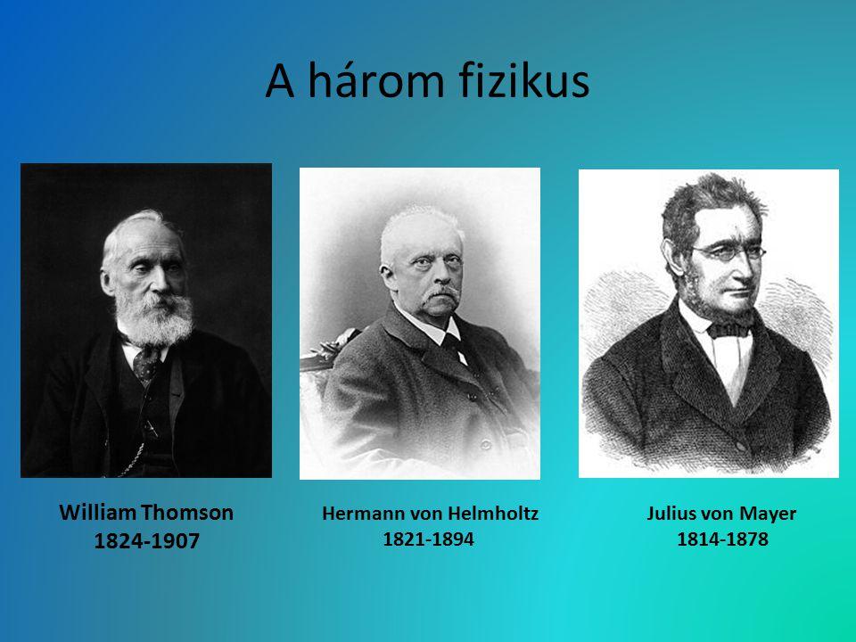 A három fizikus William Thomson 1824-1907 Hermann von Helmholtz