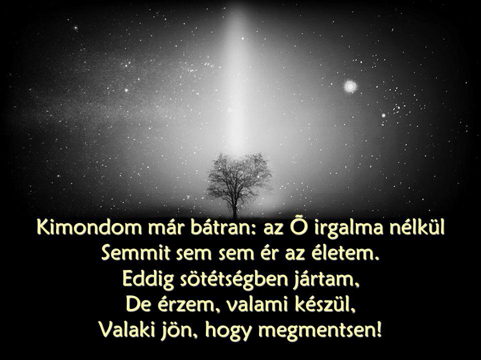 Kimondom már bátran: az Õ irgalma nélkül Semmit sem sem ér az életem.