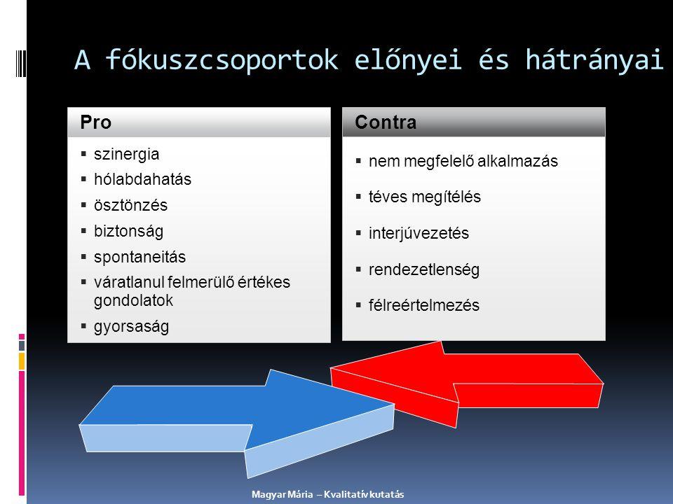 A fókuszcsoportok előnyei és hátrányai