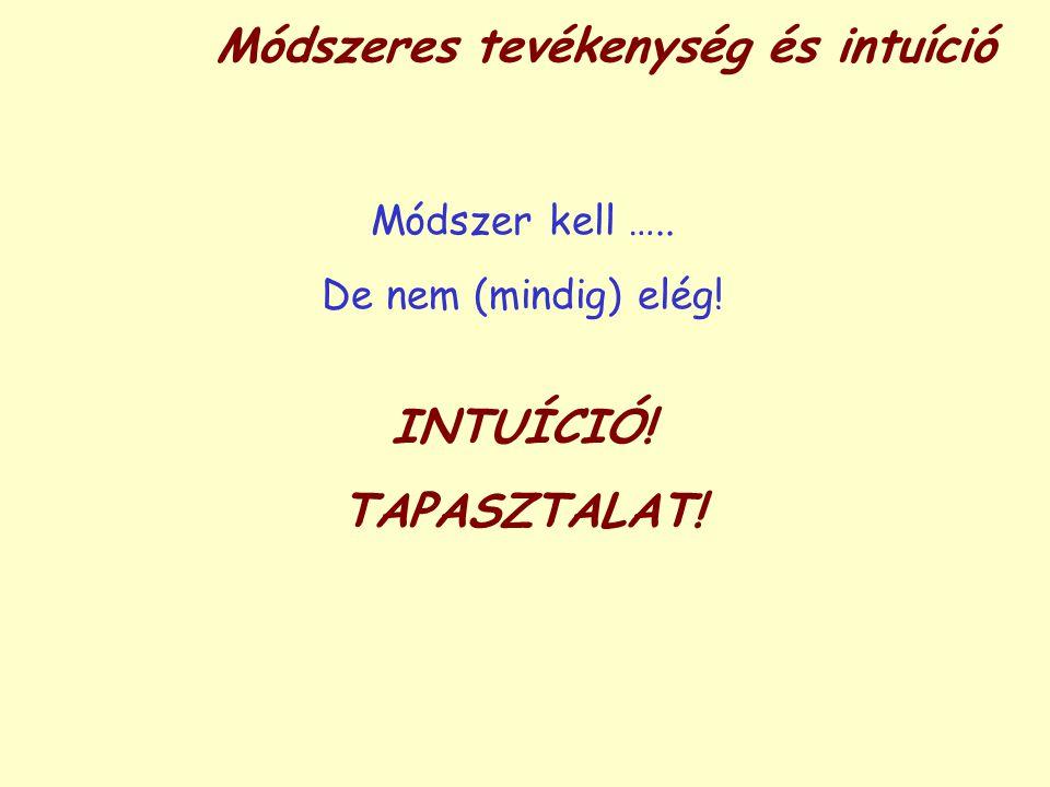 Módszeres tevékenység és intuíció