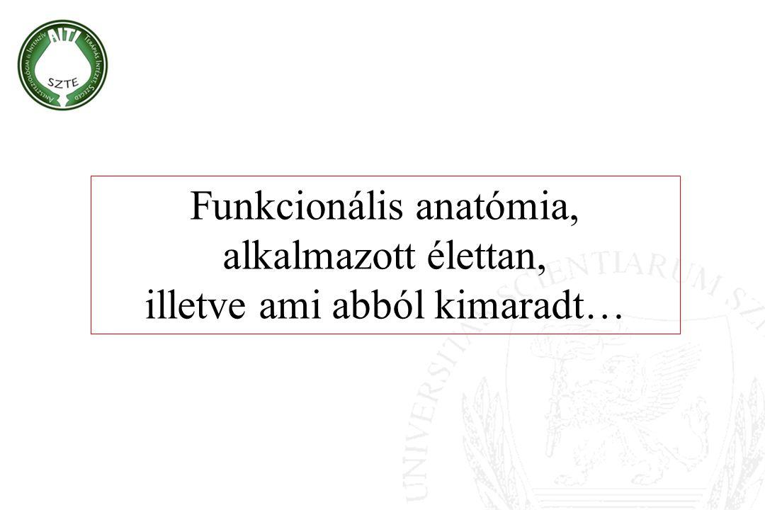Funkcionális anatómia, alkalmazott élettan,