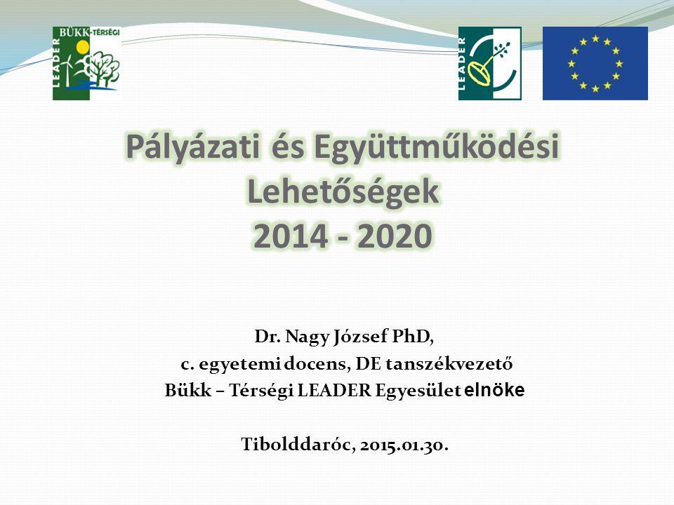 Pályázati és Együttműködési Lehetőségek 2014 - 2020