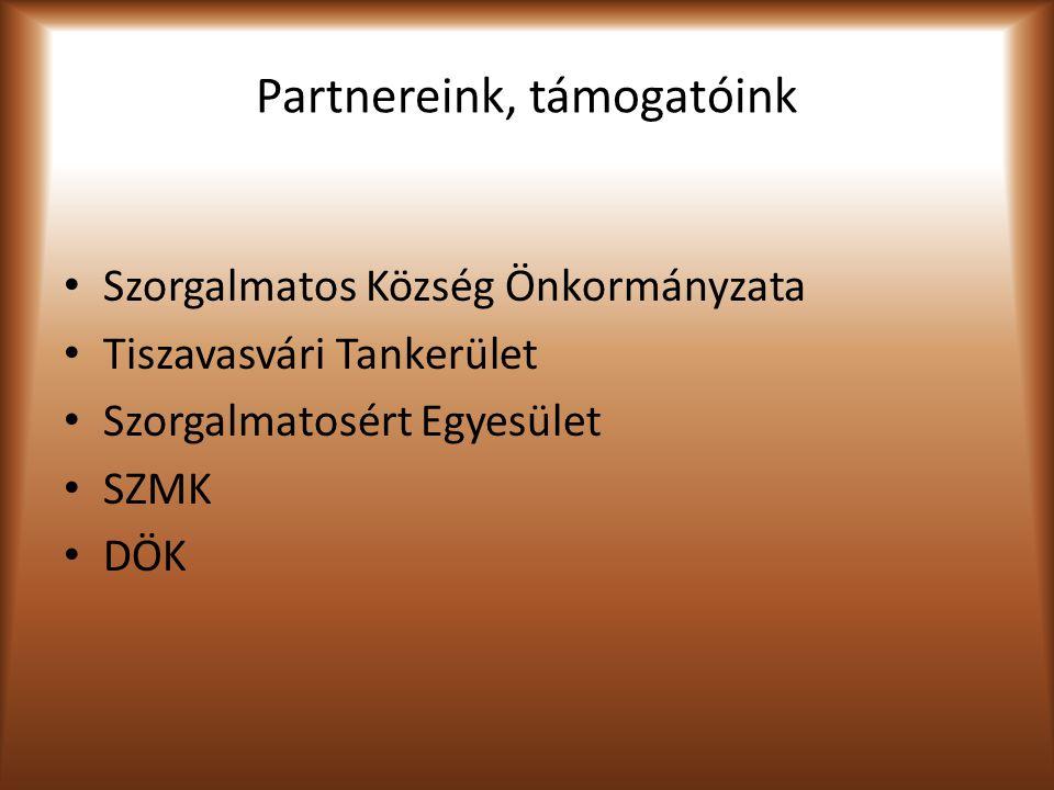 Partnereink, támogatóink