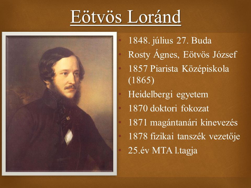 Eötvös Loránd 1848. július 27. Buda Rosty Ágnes, Eötvös József