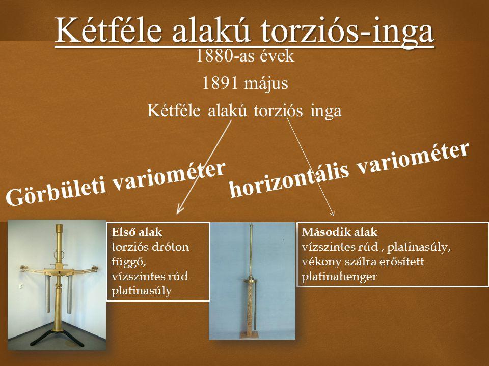 Kétféle alakú torziós-inga