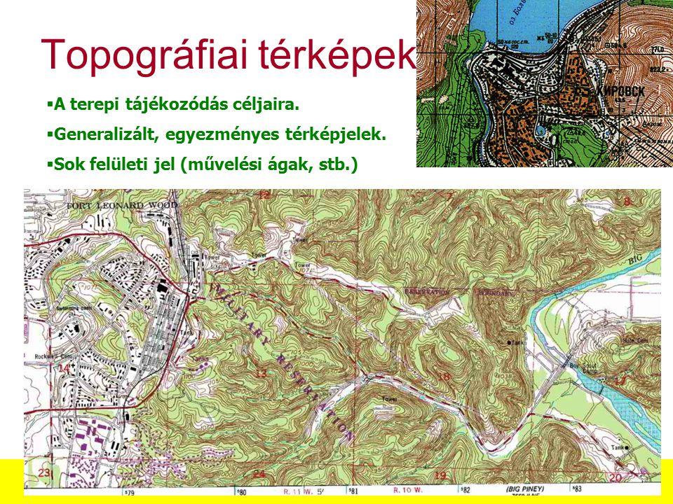 Térképészeti alapfogalmak, a térképek csoportosítása