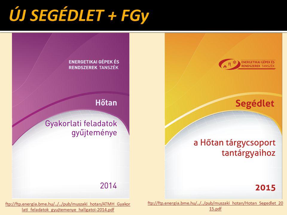 ÚJ SEGÉDLET + FGy ftp://ftp.energia.bme.hu/../../pub/muszaki_hotan/ATMH_Gyakorlati_feladatok_gyujtemenye_hallgatoi-2014.pdf.