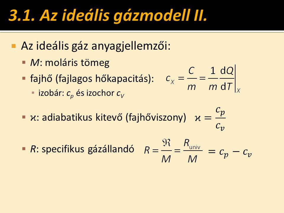3.1. Az ideális gázmodell II.