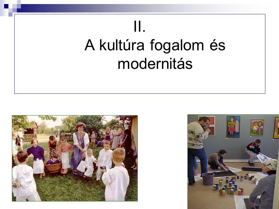 II. A kultúra fogalom és modernitás
