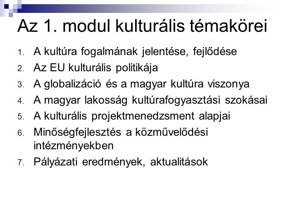 Az 1. modul kulturális témakörei