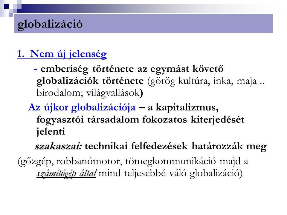 globalizáció 1. Nem új jelenség