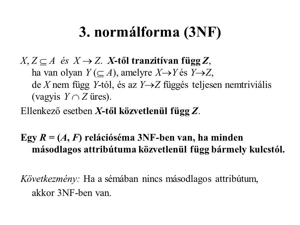 3. normálforma (3NF)