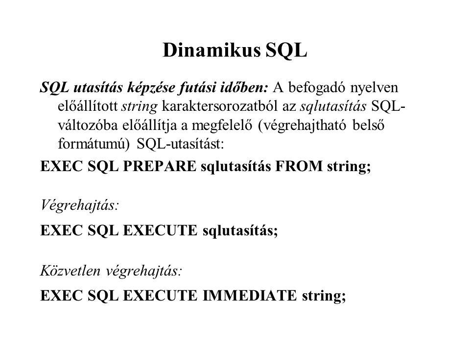 Dinamikus SQL