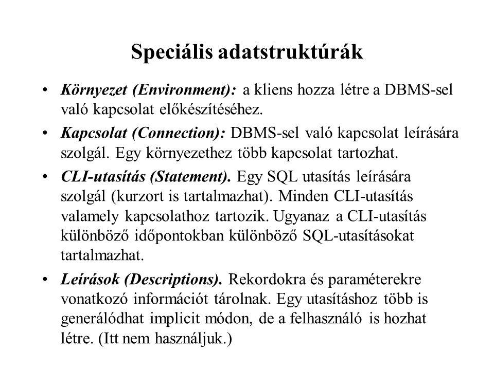 Speciális adatstruktúrák