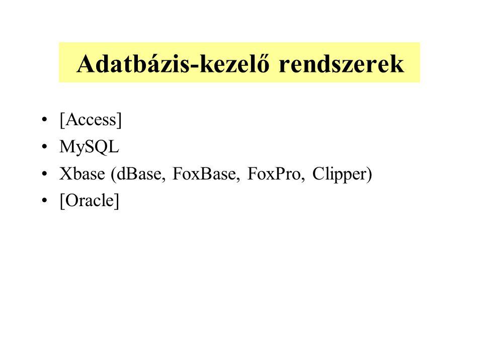 Adatbázis-kezelő rendszerek