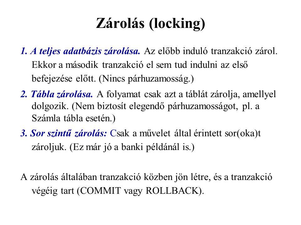 Zárolás (locking)