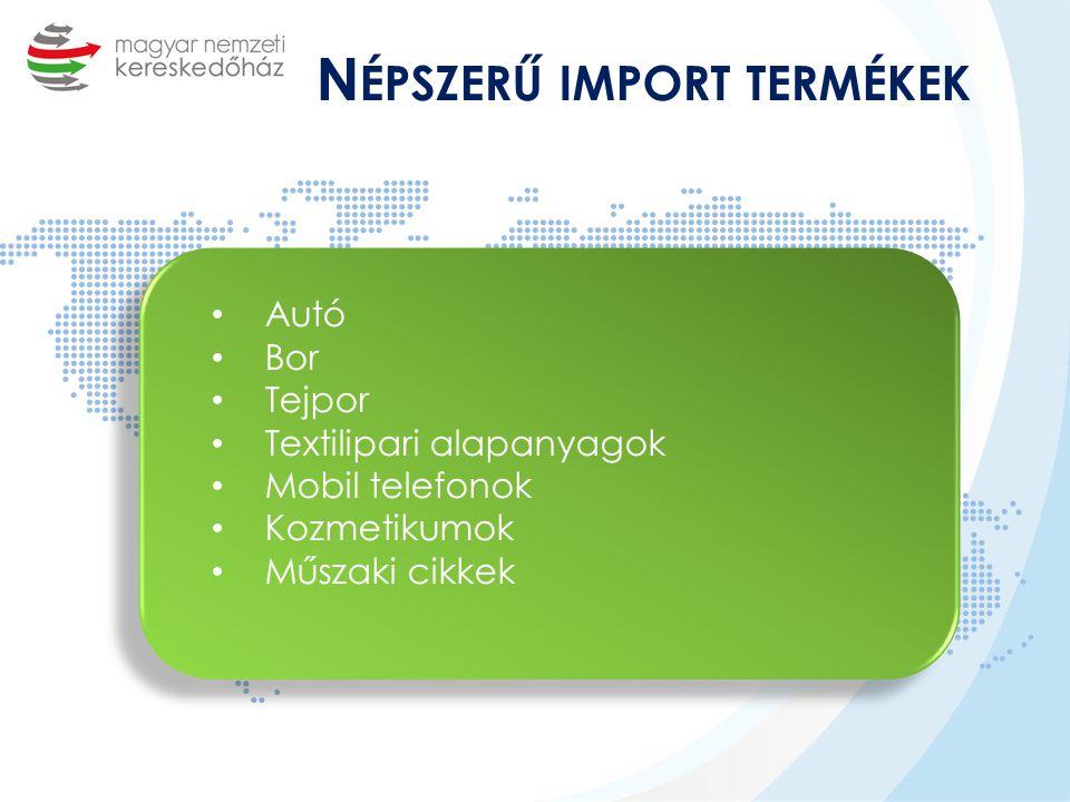 Népszerű import termékek
