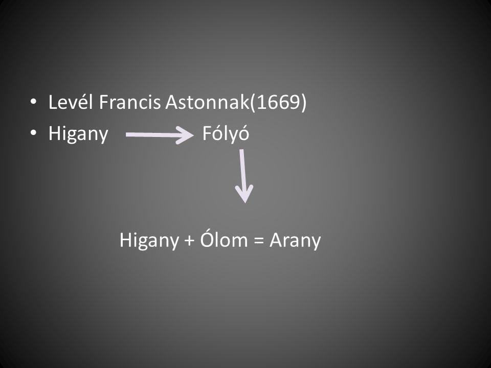 Levél Francis Astonnak(1669)