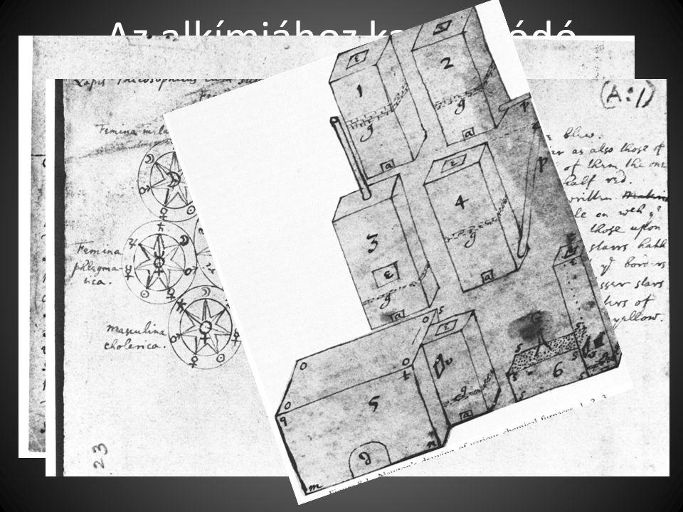 Az alkímiához kapcsolódó jegyzetei és rajzai: