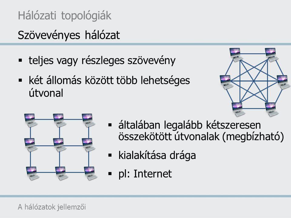 Hálózati topológiák Szövevényes hálózat