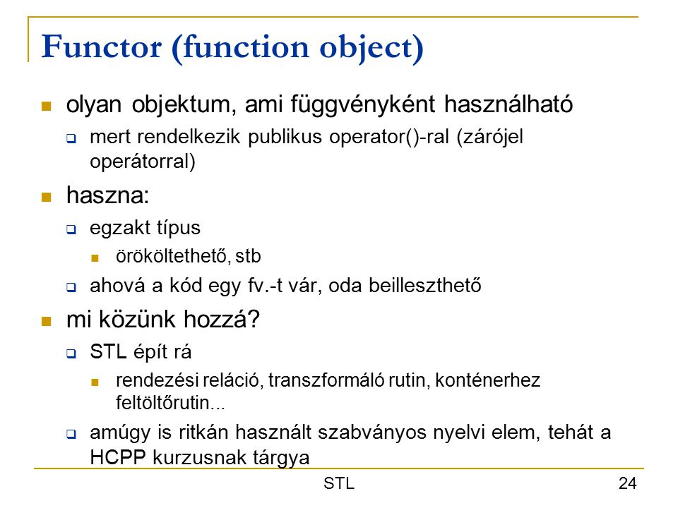 Functor (function object)