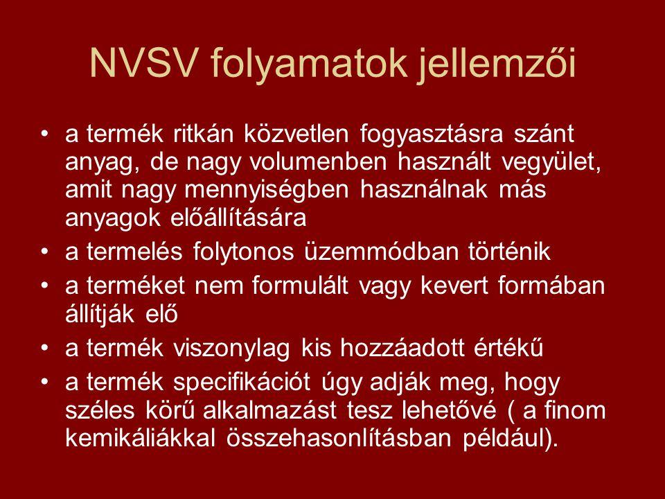 NVSV folyamatok jellemzői