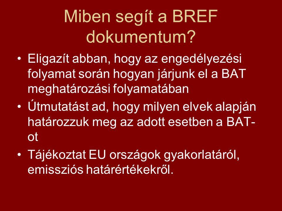 Miben segít a BREF dokumentum