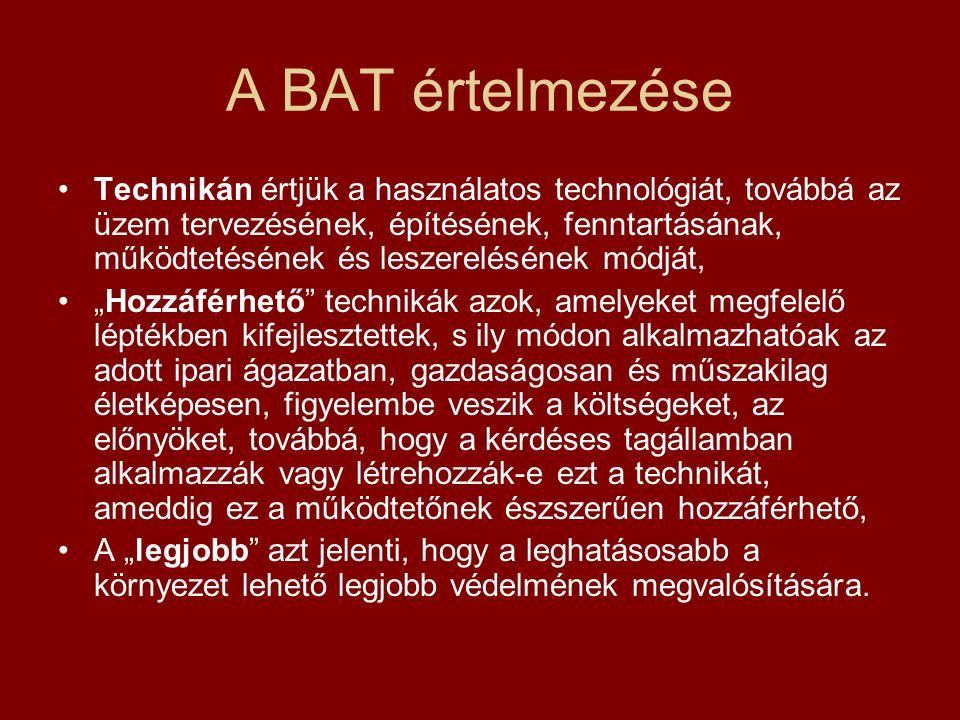A BAT értelmezése