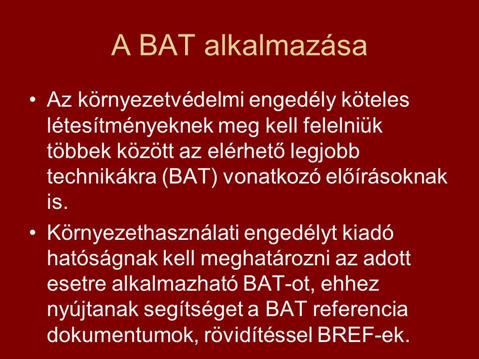 A BAT alkalmazása