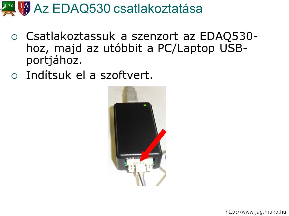 Az EDAQ530 csatlakoztatása