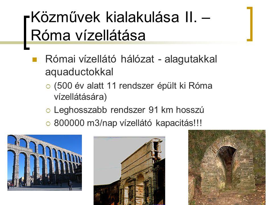 Közművek kialakulása II. – Róma vízellátása
