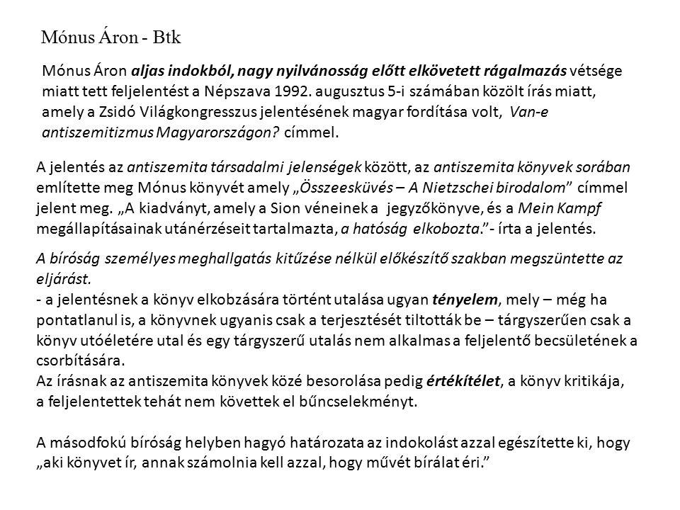 Mónus Áron - Btk