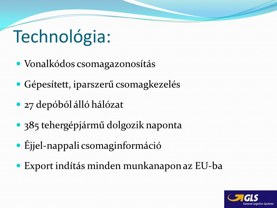 Technológia: Vonalkódos csomagazonosítás