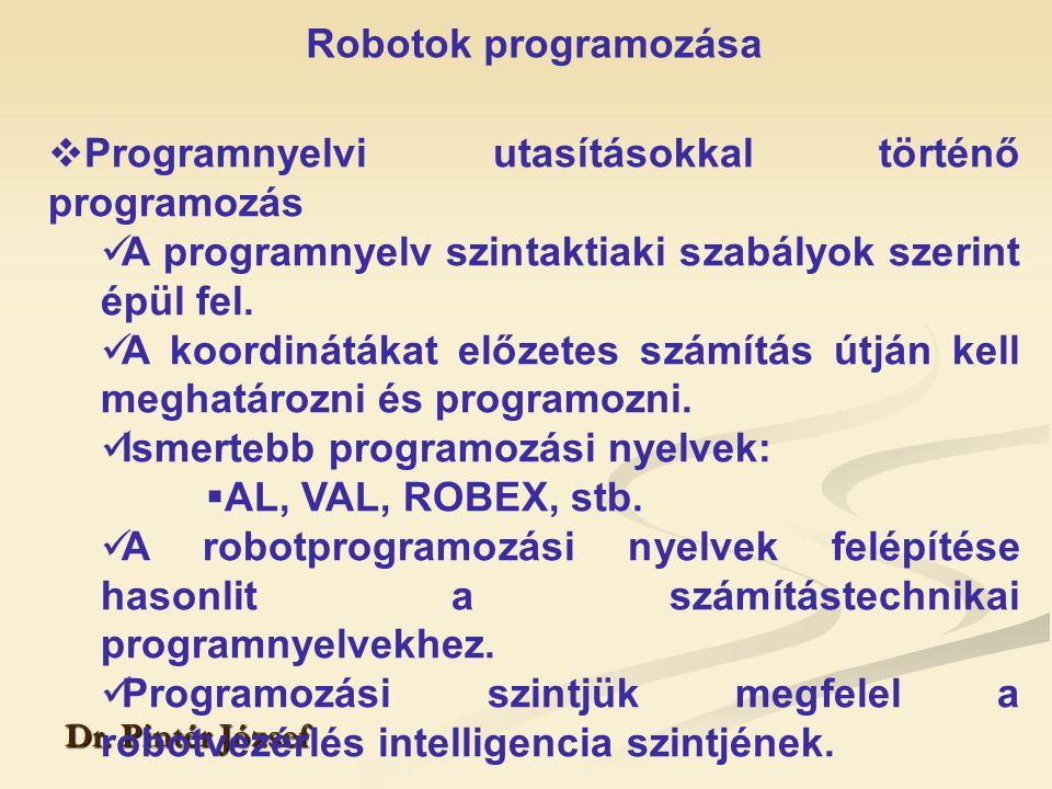 Programnyelvi utasításokkal történő programozás